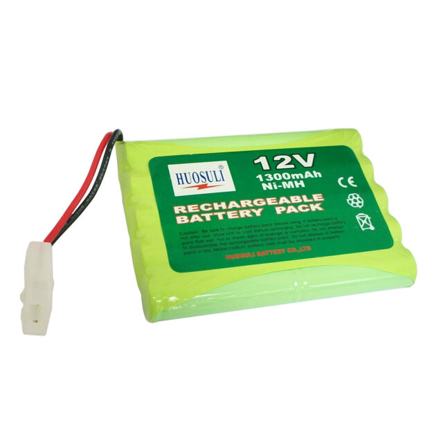 1 pc 12V 1300mAh Ni-MH Rechargeable Battery Pack Cell with Tamiya Plug US Stock