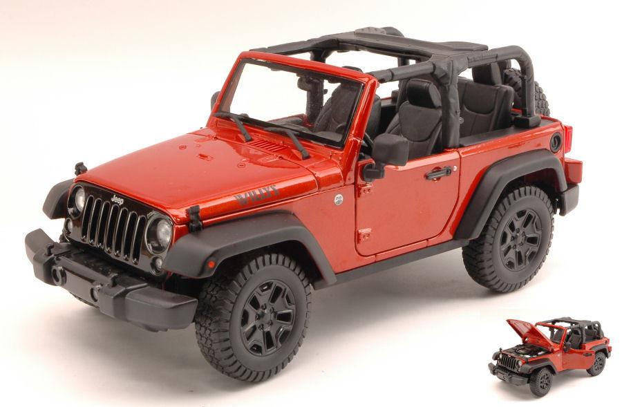 Jeep Wrangler Open Top 2014 Copper Metallic 1 18 Model MAISTO