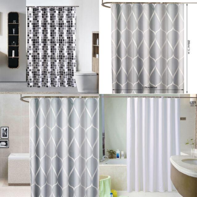 Multi Design Duschvorhang wasserdicht schimmelbeständig mit 12 Haken