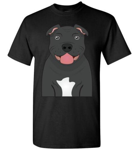 Staffordshire Bull Terrier Dog Cartoon T-Shirt Tee Men Women Youth Tank Long