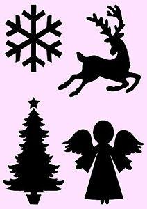 schablone weihnachtliche motive a4 f r stoffe m bel. Black Bedroom Furniture Sets. Home Design Ideas