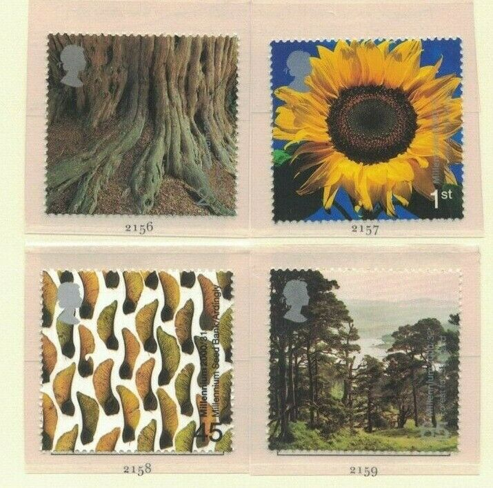 MGB10) Great Britain 2000 Millennium Projects VIII - Tree & Leaf 29-32 MUH