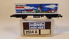 Z Scale Marklin Mini-Club 2514 A Netherlands Flag Series Container Car. DB