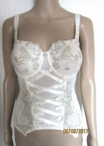 d08a12065c Image is loading Wedding-Corset-Ivory-Bridal-Basque-SUSPENDER-Sexy-Lingerie-