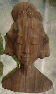 CARVED-HARDWOOD-NATIVE-WOMAN-FROM-ISLANDS-16-X-10-X-6-CM-VERY-OLD
