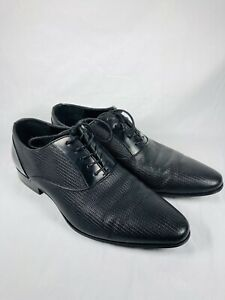 aldo black dress shoes mens size 10 oxford lace up woven