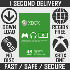 Xbox Live 48 Hour Gold Trial Membership | 48 Hours 2 Days Xbox One Xbox 360 Code