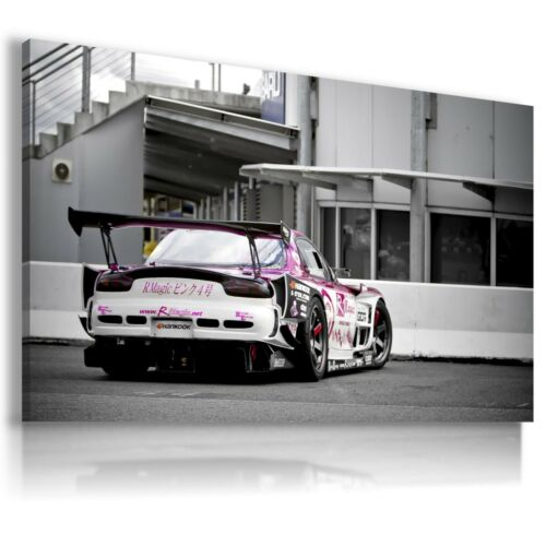 MAZDA RX7 TUNING WHITE PURPLE Sport Cars Wall Canvas Picture ART  AU351 X MATAGA