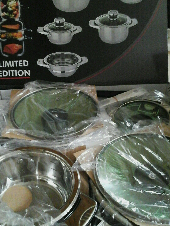 12pc Cookware Set. Set. Set. 1810 en acier inoxydable. 38b77f
