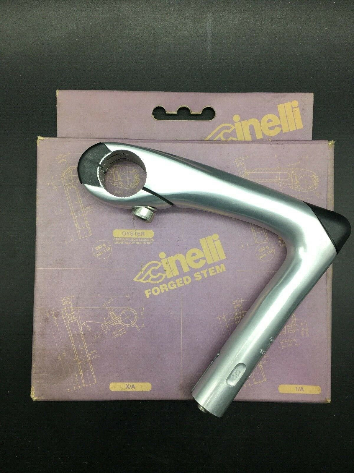 VINTAGE CINELLI OYSTER STEM LENGHT 125MM NOS NIB OPENABLE HINGED
