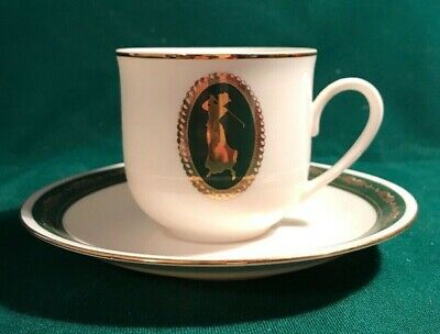 1996 Papel Freelance Woman Golf Golfer Bone China Tea Cup Saucer Thailand Ebay