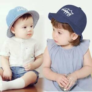 3ae1859e Baby Sun Hat Spring Summer Beach Hat Bucket Cap Newborn Toddler Kids ...
