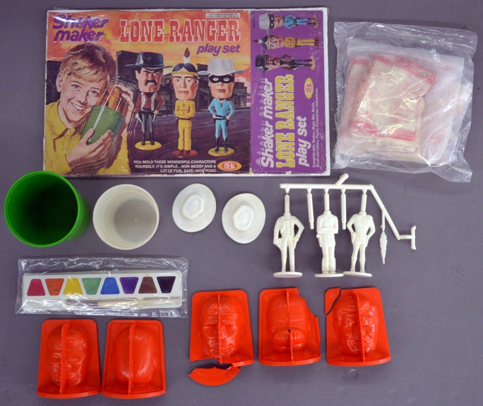 Original sin Usar 1974 Ideal Toys Llanegro Solitario Agitador Maker Set
