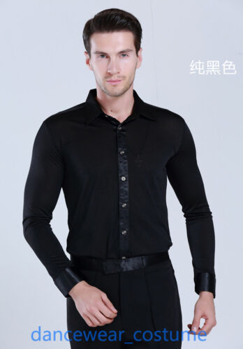 Ballroom Latin Salsa Dance Shirt Men/'s Tango Modern Jazz Cha-Cha Competition Top