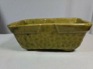 "Vintage Green Olive Avocado 6"" Planter Pottery Ceramic Clay Succulent Planter"