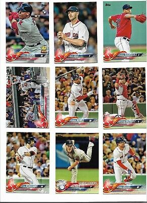 2 Boston Red Sox 2018 Topps Series 1 /& Update Base Team Set *32 cards*