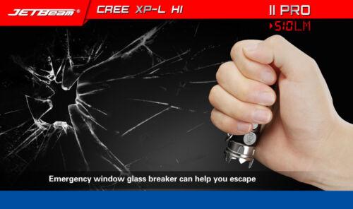 JETbeam Emergency II PRO TI IPX-8 XP-L HI 510LM 16340 EDC LED Flashlight Torch