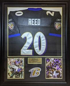 Details about Ed Reed Baltimore Ravens Framed Jersey (Pick up Only)