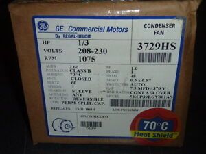 New ge condenser fan motor 1 3 hp 208 230v 5kcp39lgy801as for Ge commercial motors 5kcp39fg