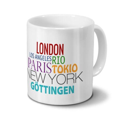 """Städtetasse Göttingen Design /""""Famous Cities in the World/"""""""