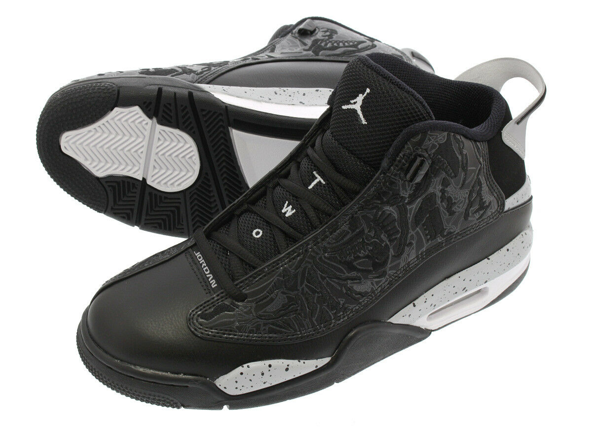 Mens Nike Air Jordan Dub Zero Sneakers New, Black White Oreo 311046-002 sku AA