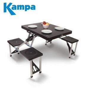Kampa Caravan Camping Happy Folding Picnic Table And Chair Set Ebay