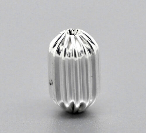 Wholesale 50-5000 Lots Silver Plated Corrugated Capsule Spacer Beads 12x8mm GW