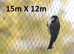 15m x 12m Wide Bird Netting Strong Garden Pond Fruit Anti Net Protection Cage