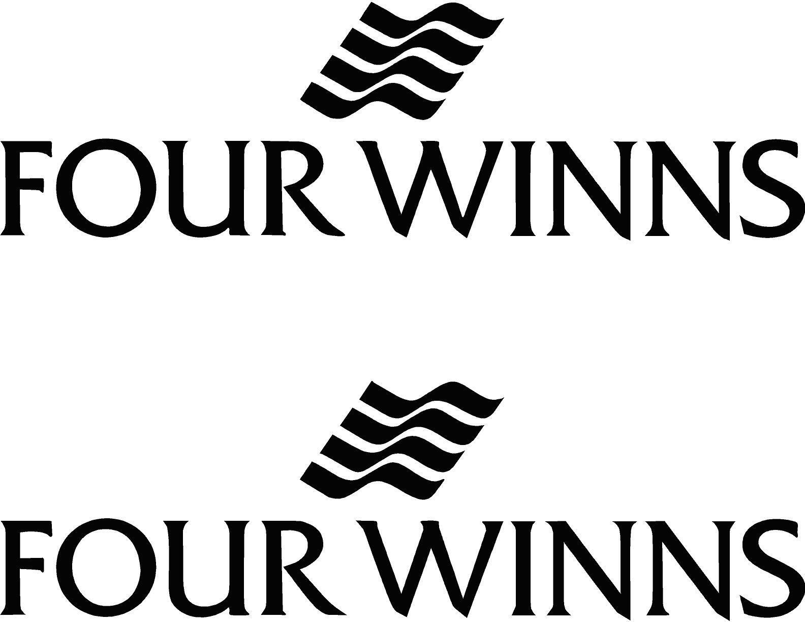 FOUR WINNS Boat Lettering Vinyl Decals Boat Stickers 2 piece set 22 in