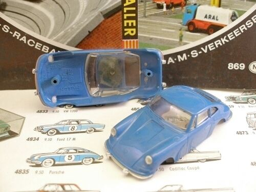 1960s Foreign 911 A+ bluee Body Car Slot Porsche Faller