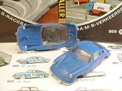1960s Foreign Faller Porsche 911 Slot Car Body Blue A+ Rijk Aan PoëTische En Picturale Pracht