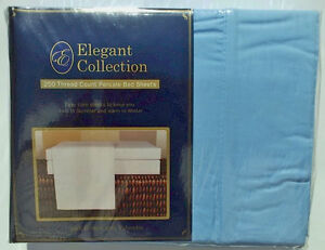 ELEGANT-POLY-COTTON-PERCAL-KING-SHEET-SET-AQUA-BLUE-FITTED-FLAT-SHEETS-2-CASES