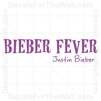 Justin Bieber Fever Girl Wall Decal Vinyl Art Sticker Quote Decor Decoration B59