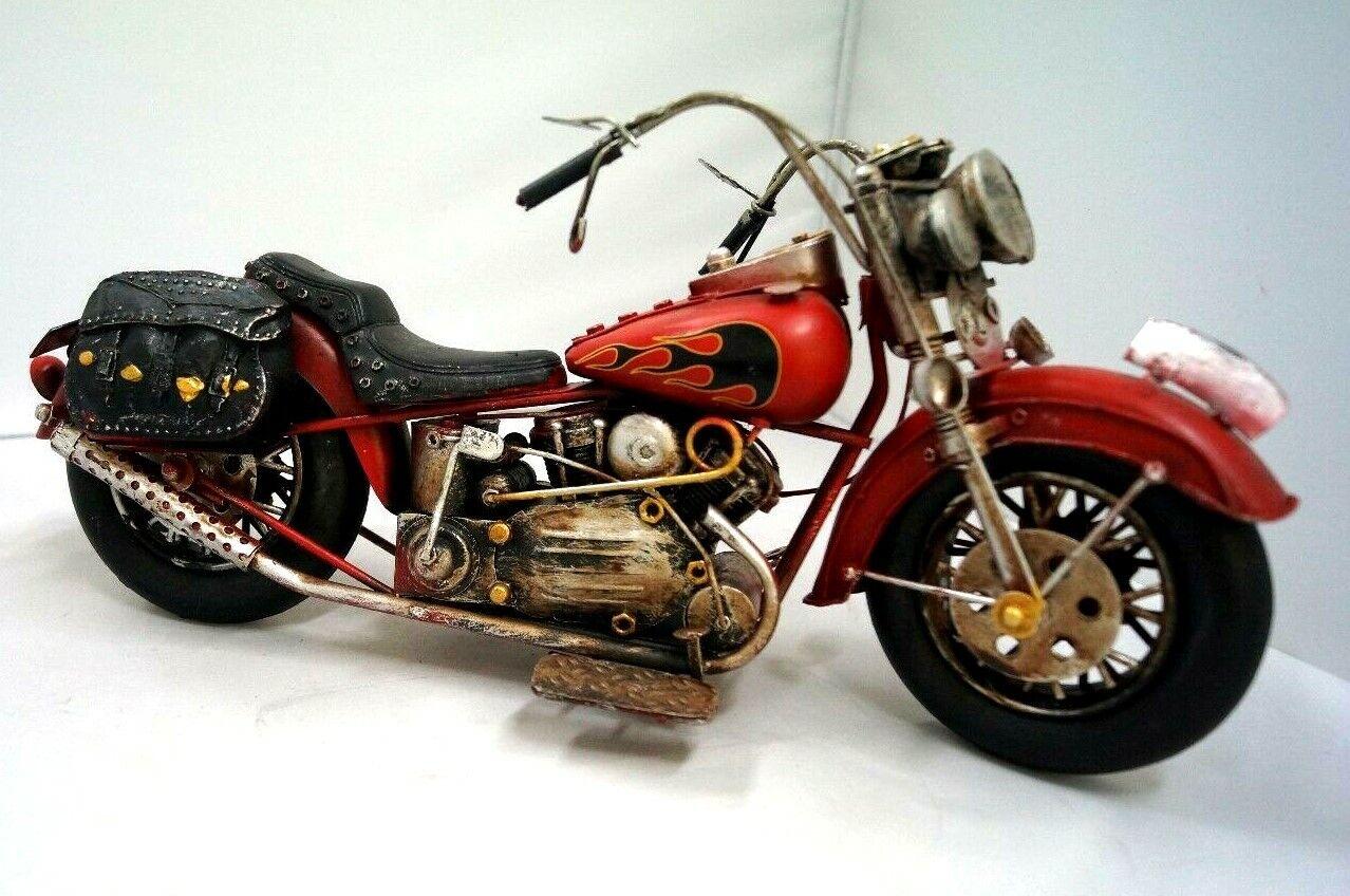 32 Vintage  ride Chopper replica motorbike flames collectable memorabilia decor