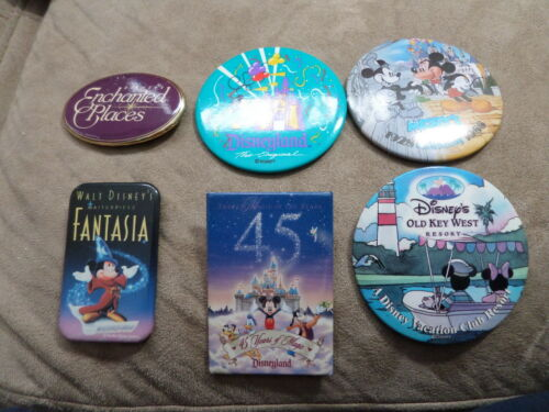 Disney ButtonPin Lot 6 buttons in total some rare! See photos