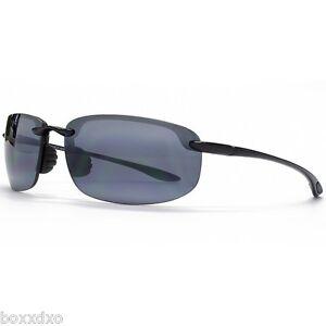 32216179c57 NEW MAUI JIM Black Sport Wrap Sunglasses Hookipa 407-02 Polarized ...