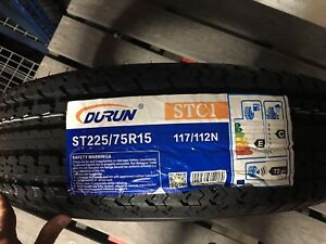 4 New ST 225//75R15 Zeemax Radial Trailer Tires 10 Ply 2257515 75 15 R15 E