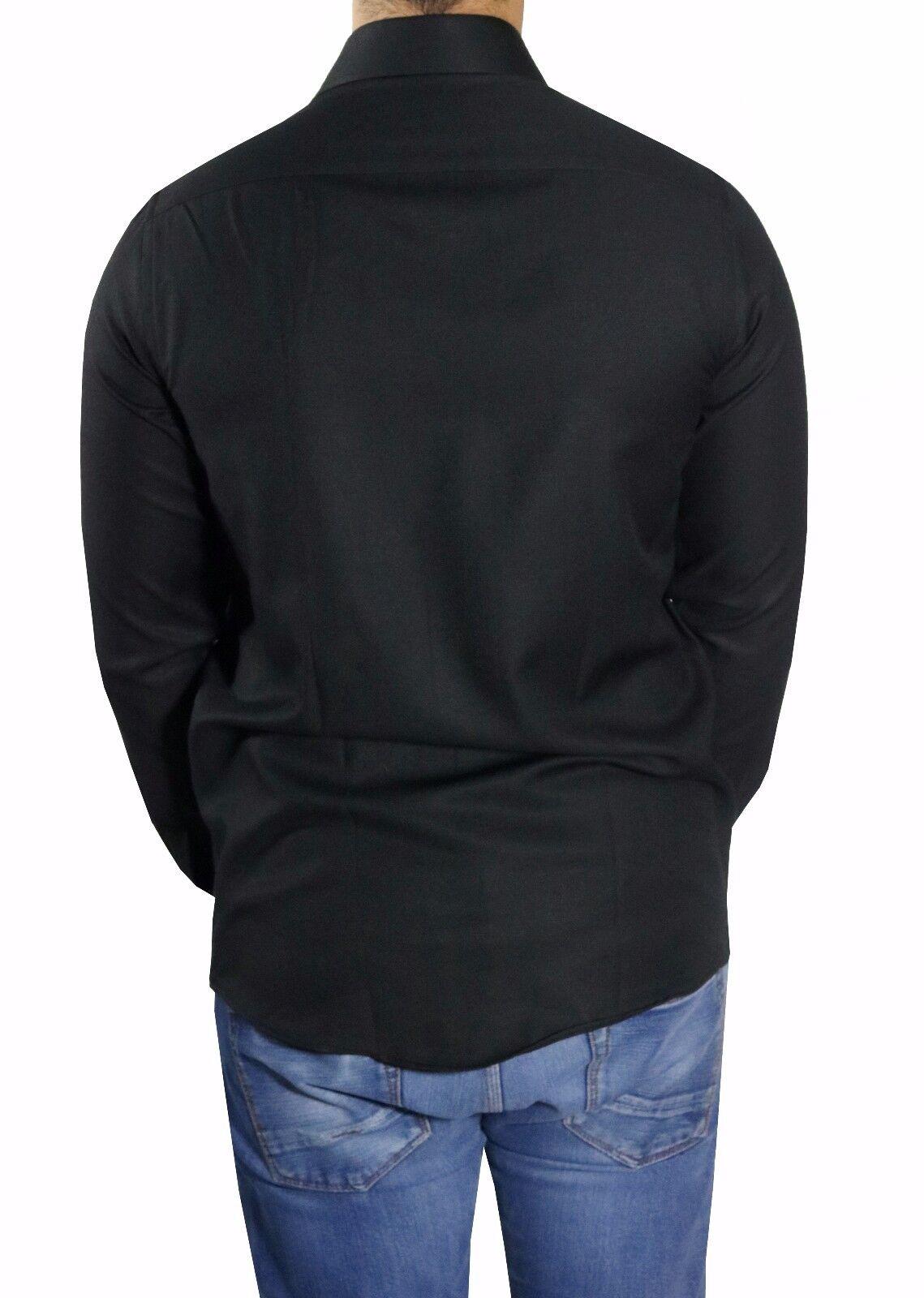 Slim-fit Hemd extra lange Arme Gr.XL Schwarz Schwarz Schwarz   Professionelles Design    Einfach zu bedienen  9c7b1f
