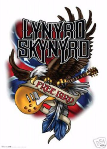 "LYNYRD SKYNYRD POSTER FREE BIRD CLASSIC SOUTHERN ROCK MUSIC MEMORABILIA 24""X36"""