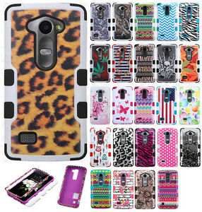 big sale 5203e efabf Details about For LG Sunset L33L Rubber IMPACT TUFF HYBRID Case Skin Phone  Cover Accessory