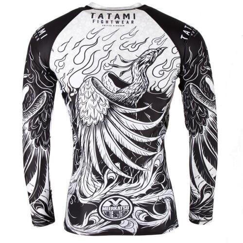 Tatami Phoenix Rising Mens BJJ Rash Guard Long Sleeve Jiu Jitsu Compression MMA