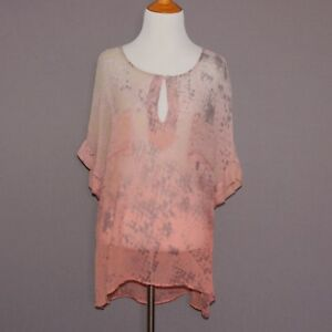 9265e9dbff59 Gypsy 05 Purple Pink Snakeskin Animal Print Size S Sheer Silk Blouse ...