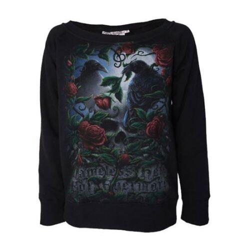 Darkside Abbigliamento Edgar Allan Poe disse il corvo SOSPIRI Black Sweater