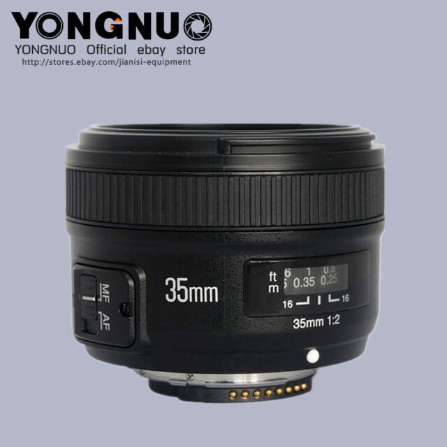 YONGNUO YN35MM F2 gran angular de lente de enfoque automático para Cámara Nikon