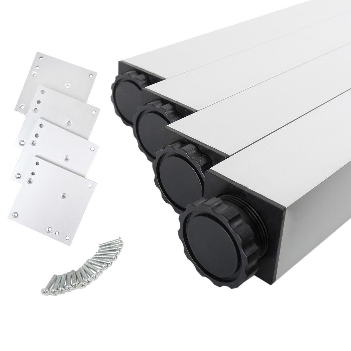 4er Set Tischbeine Möbelfüsse Tischstempel aus Metall 46mm x 46mm diverse Höhen