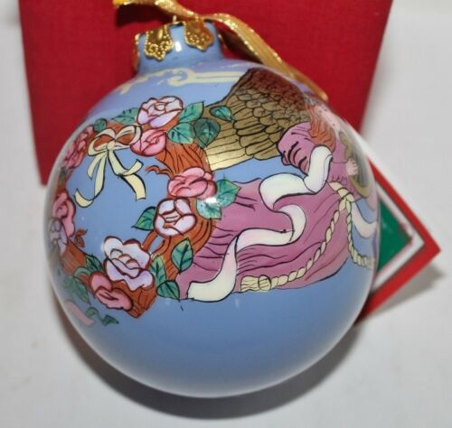 "Choice Papel Giftware Reverse Paint Ornament 3 1//2/"" NIB Angels"