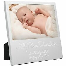 NEW BABY BOY GIRL IDEA REGALO Foto Cornice Foto 1st prima dettagli personalizzati nascita