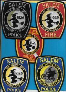Blue The Witch City Salem MA Police Dept Patch Massachusetts