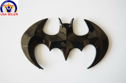 Car Badge Emblem etc Glossy Black BATMAN 3D DC Universe for Laptop
