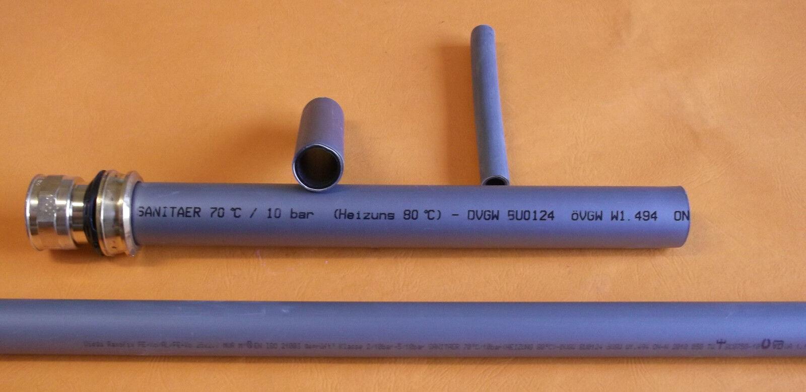 Viega Raxofix PE-Xc/Al/PE-Xc 5,0m Rohr Stange  5303 Ø32